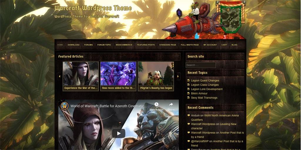 Warcraft WordPress Theme V2