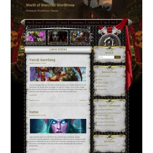 warcraft wordpress theme