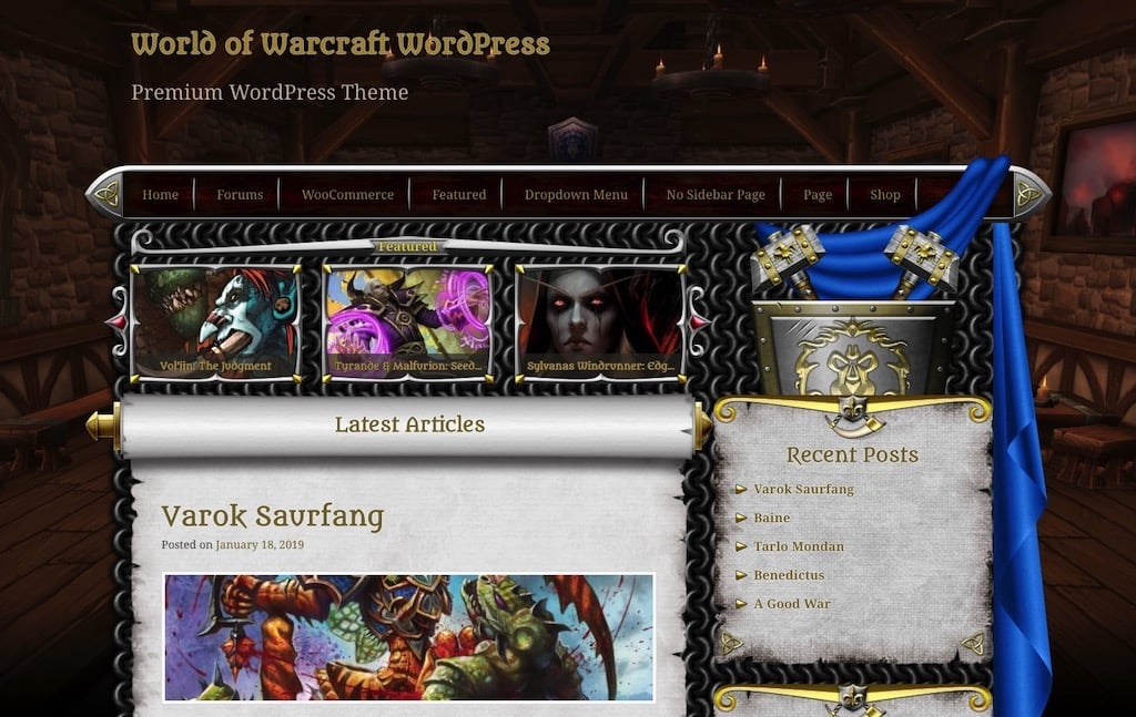 World of Warcraft WordPress Theme V3