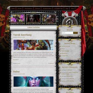 World of Warcraft WordPress theme